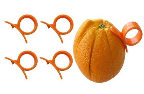 Set of 4 Round Orange Peelers, a Simple and Practical Way to Peel Oranges
