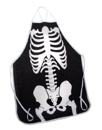Black / White Skeleton Print Barbecue Apron BBQ Bones