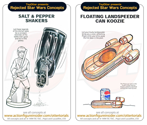 Floating Landspeeder Can Koozie and Star Wars salt and pepper shakers