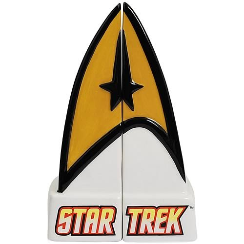 Westland Giftware Star Trek Command Insignia Salt and Pepper Shakers