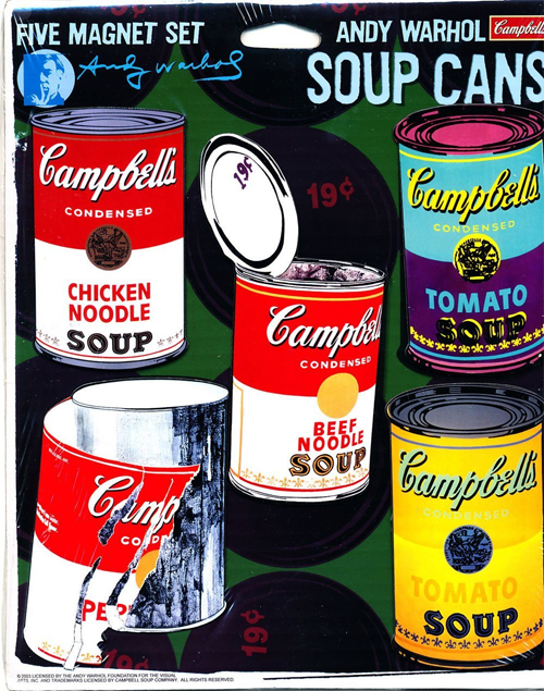 Andy Warhol Campbell's Soup Can Magnets
