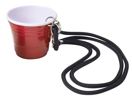Red Cup Living Shooter Cup with Lanyard