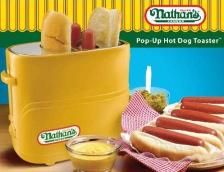 Nostalgia Electrics Nathan's Famous Pop-Up Hot Dog Toaster