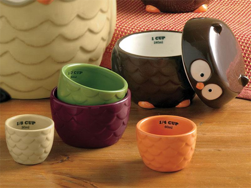 Tag Nesting Owl Measuring Cups With Lid