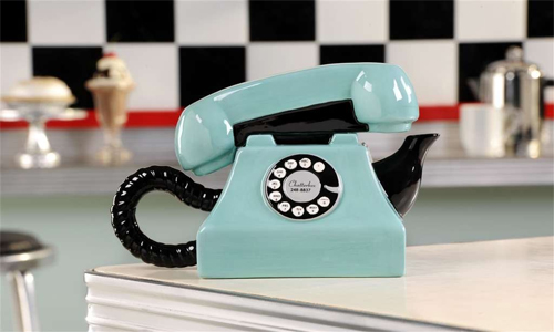 Giftcraft Telephone Retroflections Chatterbox Phone Teapot