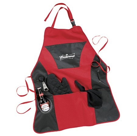 Budweiser Grill Master Apron With Beer Koozie