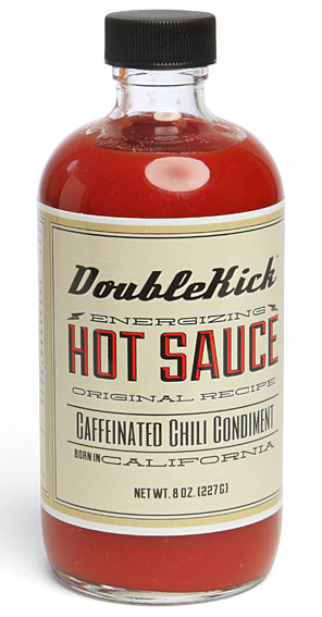 DoubleKick Energizing Hot Sauce Caffeinated Chili Condiment