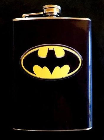 Batman HIP Flask Stainless Steel 8oz FW2 by Master Price