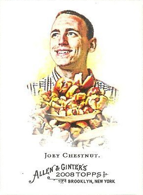 2008 Topps Allen and Ginter # 109 Joey Chestnut (Hot Dog Eating Champion) MLB Baseball Card