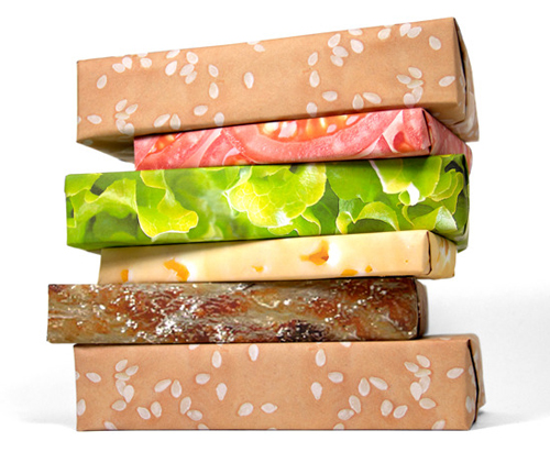 Cheeseburger Gift Wrap Set by Gift Couture