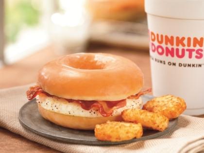 Dunkin' Donuts Glazed Donut Breakfast Sandwich