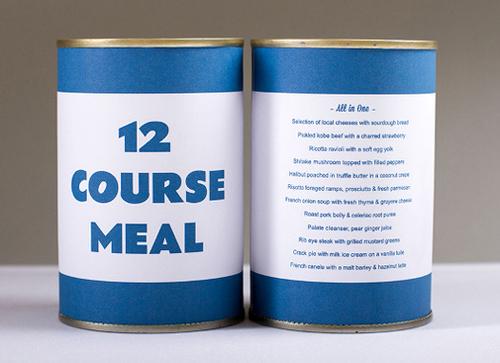 12 Course Meal In A Can