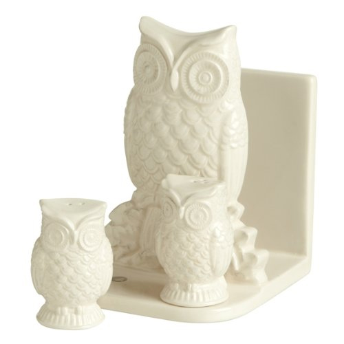 Grasslands Road Owl Napkin Holder With Salt & Pepper Shakers Gift Set