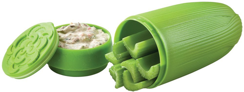 Hutzler Snack Attack Celery and Dip to Go Serve Set with dip