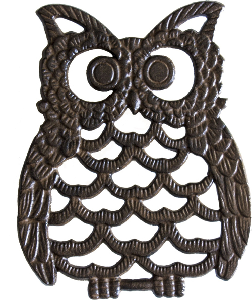 Cast Iron Trivet - Owl (Unique, Hand-crafted, Recycled; for Kitchen and Cooking) by Comfify
