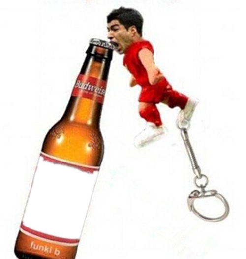 Hango Hot! New Arrival Luis Alberto Suarez Bottle Opener in World Cup With Vivid Bite Image,2014 New The Suarez bottle opener,in production,coming soon,please collect stores,we will reduce the price when have goods,2014 Brazil World Cup the Suarez Bottle Opener Souvenir Creative Gift