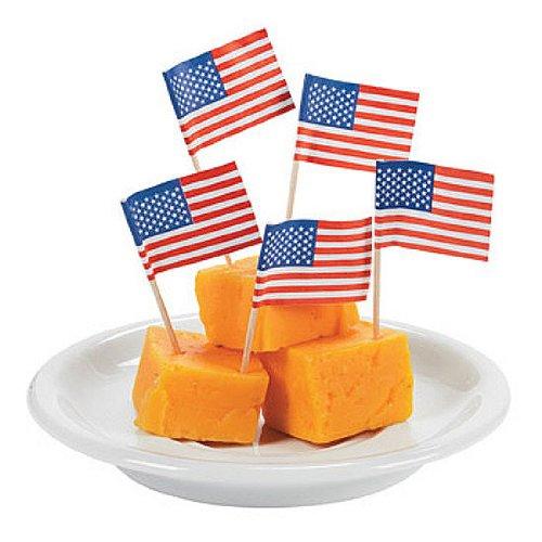 Paper USA Flag Snack Cocktail Food Picks