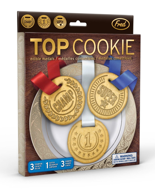 Fred and Friends Top Cookie Cutters edible medals
