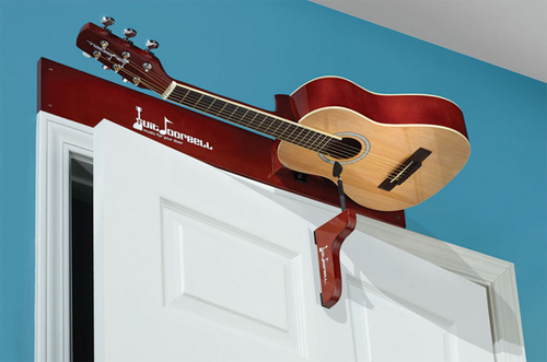 The Guitar Doorbell -- Guit Doorbell mounts over door.
