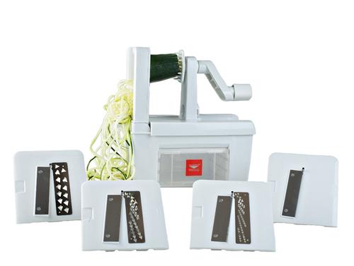Paderno World Cuisine 4-Blade Spiralizer -- Spiral Cutter