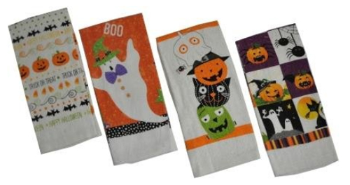 Halloween Print Kitchen Towels