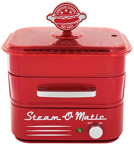 Smart Planet HDS1 Steam-O-Matic Red Hot Dog Steamer