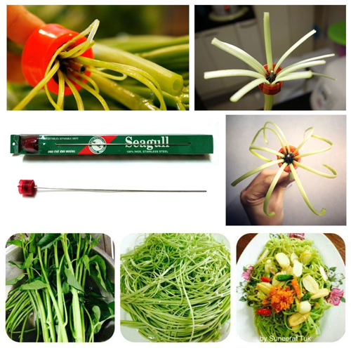 Water Spinach Splitter, The Best Shredder For Morning Glory Vegetable, Chinese Water Spinach Or Thai Water Spinach, Fun And Useful Kitchen Gadget, Great Gift For Any Foodie. by Asian 108 Markets