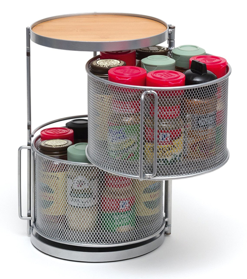 Spice Tower Spice Rack Organizer with Bamboo Top from Lipper International