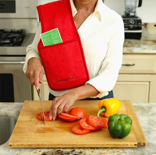 Campanelli's Cooking Buddy - Professional Grade All-In-One Pot Holder, Hand Towel, Lid Grip, Tool Caddy, and Trivet.