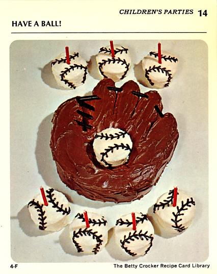 Have A Ball Baseball Mitt Cake from Betty Crocker Recipe Card Library