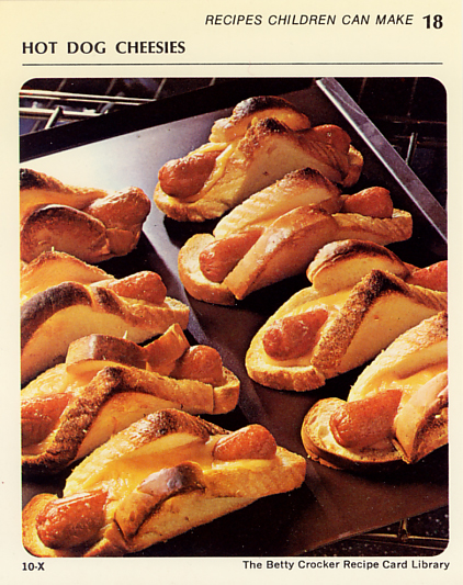 Hot Dog Cheesies from the Betty Crocker Recipe Card Library