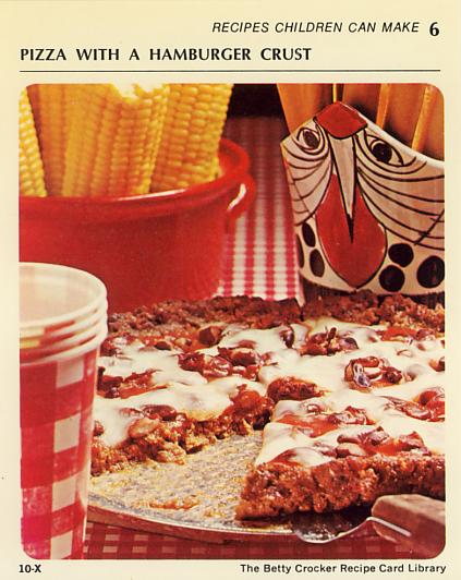 Burger Pizza Bettyy Crocker Recipe Card